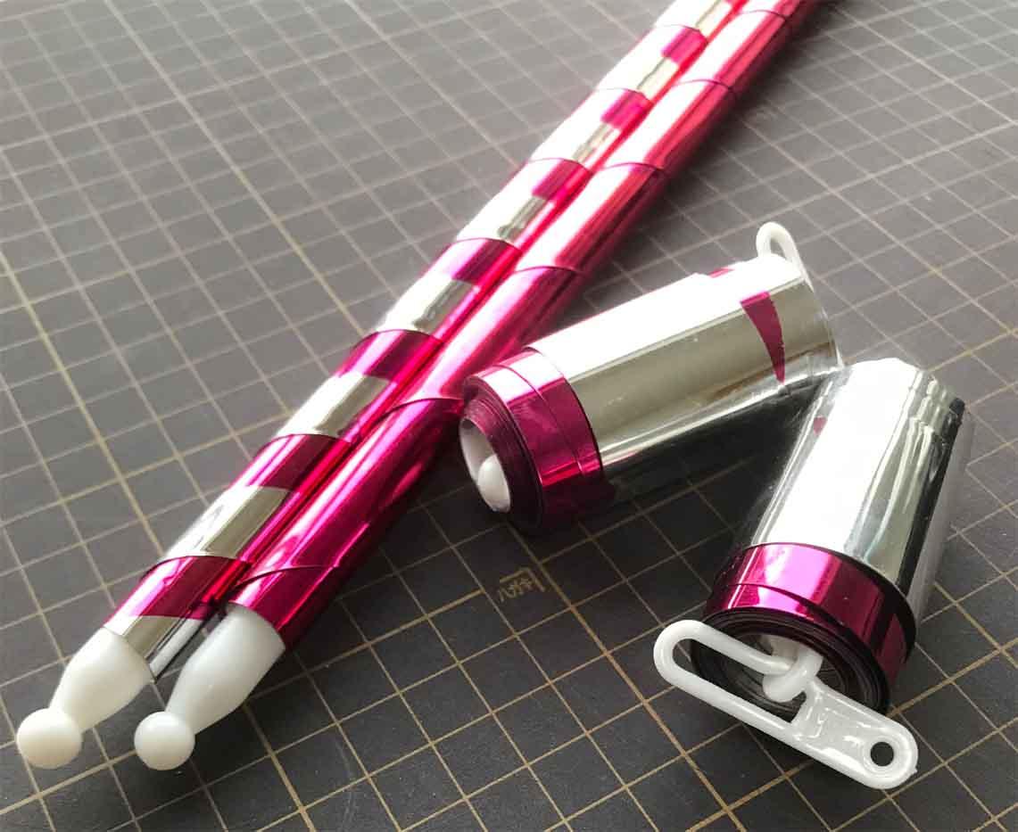 【激安】アビアリングケーン(プラスチック)ピンク&シルバー:メタリック※