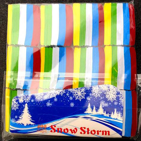 格安:紙吹雪(マルチカラー):長方形の紙吹雪/SnowStorms - Multi-Color