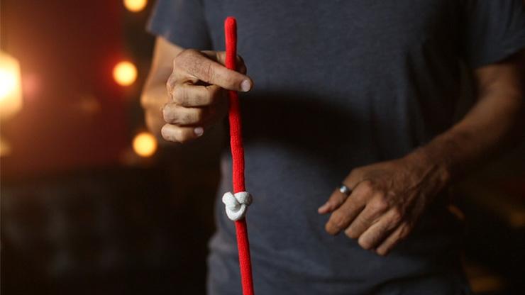 アクロバティック・ノット:紅白(ダロー)Amazing Acrobatic Knot w/xtra knot Red and White (Gimmicks and Online Instructions)  by Daryl ※