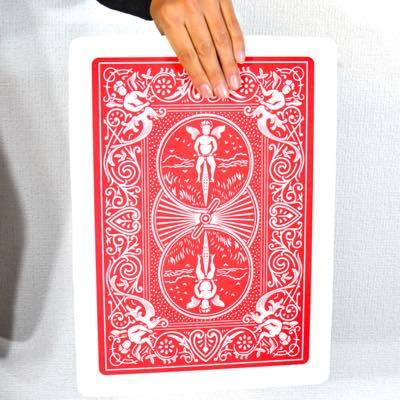 【単品販売】薄型ジャンボ・カードモンテ(プラスチック製)/Super Automatic Three Card Monte - Giant, Plastic (45*30cm)※