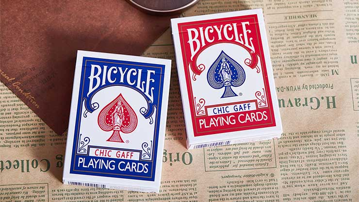シック・ガフデック:赤 (特殊印刷デック)+DVD / Bicycle Chic Gaff (Red) Playing Cards by Bocopo ※