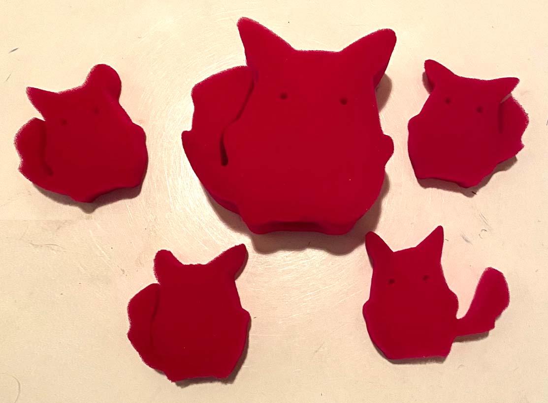 【10個セット】スポンジ:赤いピカ〇ュウ / Kitty Kaper ※