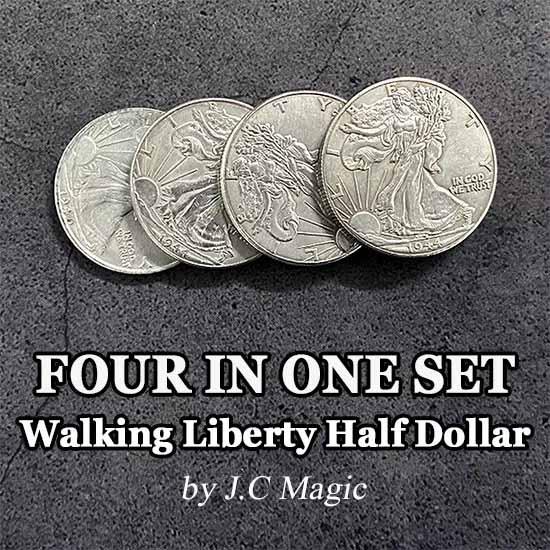 フォーインワンセット(ウォーキングリバティー)/Four in One Walking Liberty Half Dollar Set ※