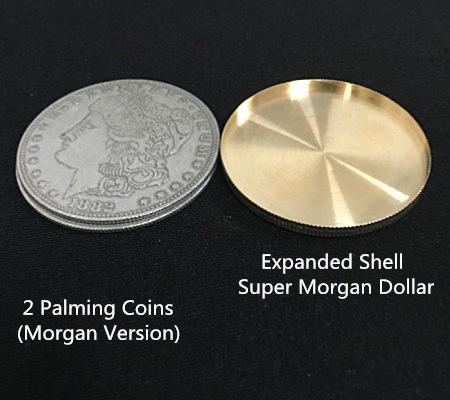 エキスパンデット・シェルコイン:モルガン(ワンダラー)2.5mm/Expanded Shell Super Morgan Dollar ( made in Copper)