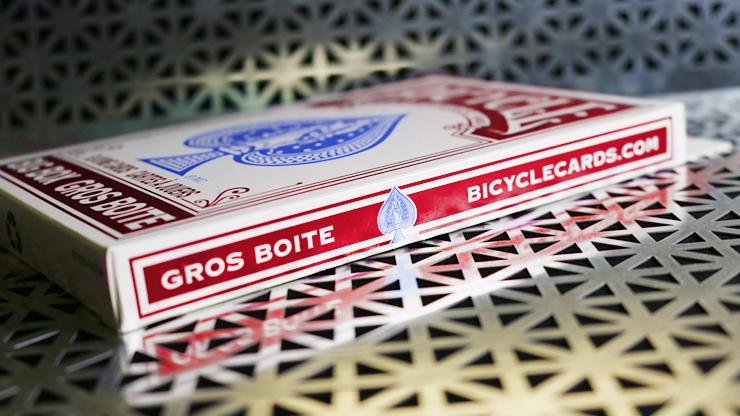 ビックバイスクル:赤(11.5cm x 17.75cm) / Big Bicycle Cards (Jumbo Bicycle Cards, Red)