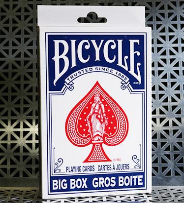 ビックバイスクル:青(11.5cm x 17.75cm) / Big Bicycle Cards (Jumbo Bicycle Cards, Blue)