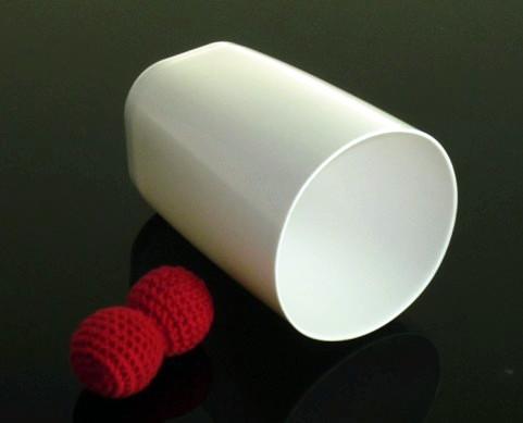 チョップカップ:プラスチックカップ 白/Chop Cup (Porcelain White,Plastic) ※