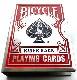 カードケース「BICYCLE柄」:赤(真ん中のスートが青)