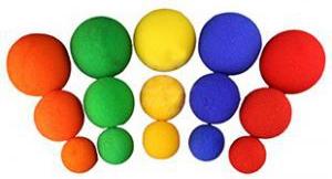 【激安30個セット】スポンジボール:黄(中サイズ35mm)