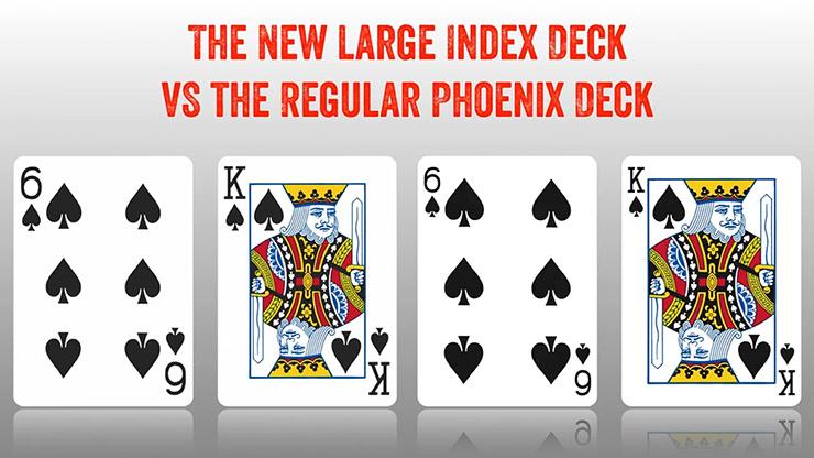フェニックス・デック(赤)ラージインデックス/Phoenix Deck Large Index (Red)  by Card-Shark