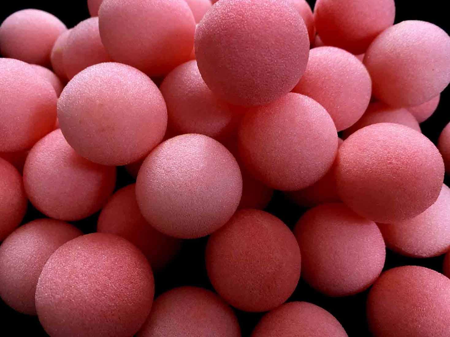 【激安】スポンジボール:ピンク(中サイズ35mm)