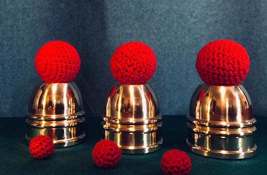 超ミニ・真鍮製・コンボ・カップ&ボール(ギミックカップ付き)