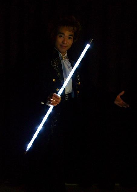 Star-lite Dancing Cane (White)/分割式ライティングダンシングケーン 白