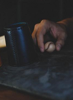 Leather Chop Cup with Balls (Black)/革製チョップカップ(黒)