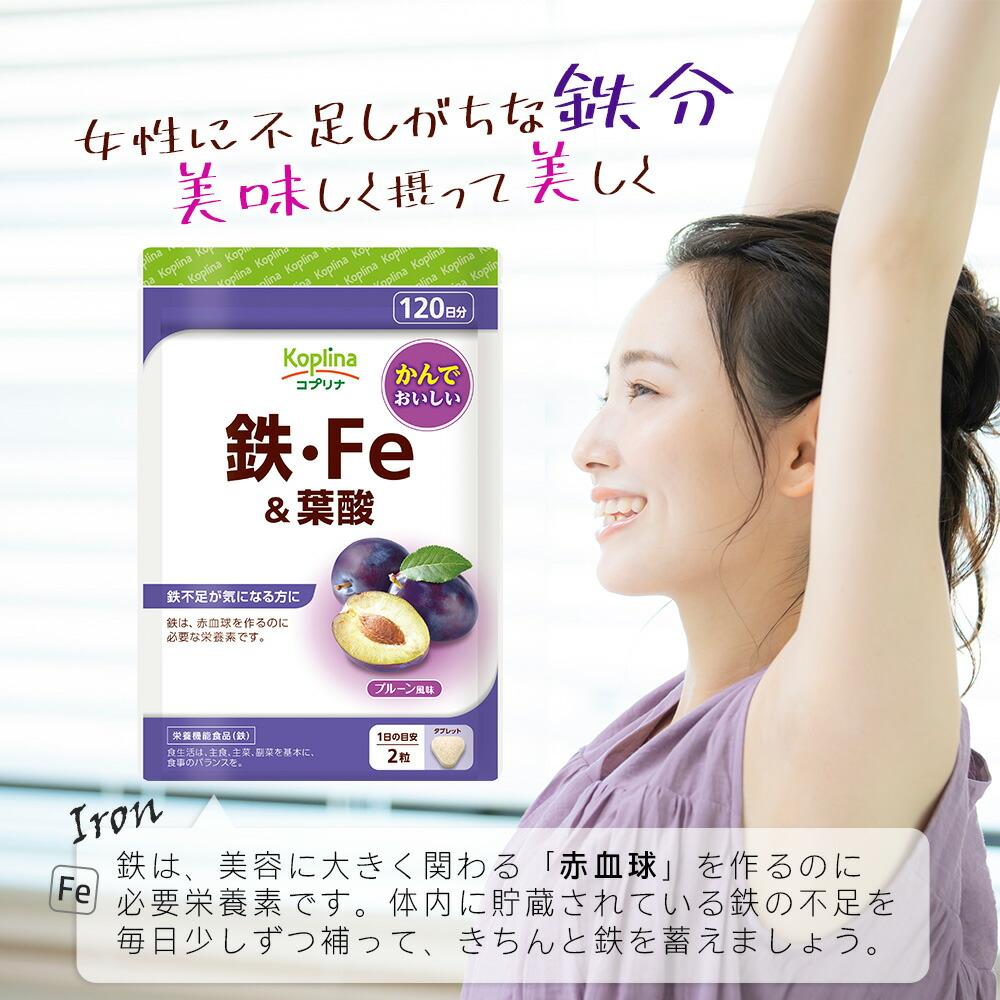 鉄・Fe&葉酸