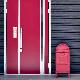 サインマグネットステッカー クロミ ペット案内【猫がいます】スリム型 玄関ドアお知らせマグネット【ゆうパケット対応商品】