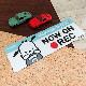 反射マグネットステッカー ポチャッコ ドライブレコーダー搭載車【NOW ON REC】スリム型 車マグネットステッカー【ゆうパケット対応商品】