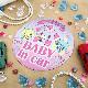 ミュークルドリーミー 丸型15cm【BABY IN CAR】車マグネットステッカー【ゆうパケット対応商品】