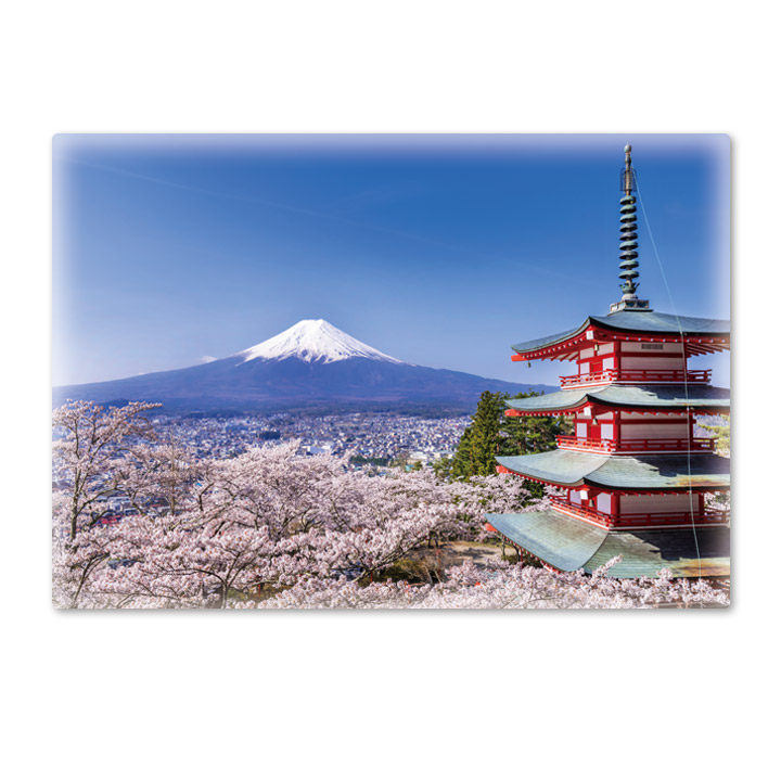おふろポスター【富士山と桜】マグネットシート製【宅急便限定】