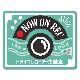 反射マグネットステッカー ドライブレコーダー搭載車 チョークアート風【NOW ON REC】車マグネットステッカー【ゆうパケット対応商品】