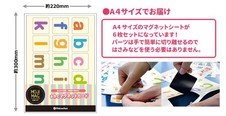 お風呂でも使える!【abc(小文字)マグネットカード】【ゆうパケット対応商品】