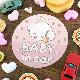こぎみゅん 丸型15cm【BABY IN CAR】車マグネットステッカー【ゆうパケット対応商品】