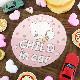こぎみゅん 丸型15cm【CHILD IN CAR】車マグネットステッカー【ゆうパケット対応商品】