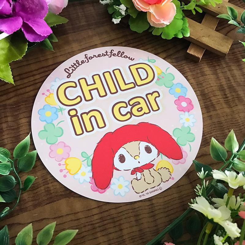 リトルフォレストフェロォ 丸型15cm【CHILD IN CAR】車マグネットステッカー【ゆうパケット対応商品】
