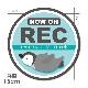 反射マグネットステッカー ドライブレコーダー録画中 こどもペンギン 緑【NOW ON REC】丸型15cm車マグネットステッカー【ゆうパケット対応商品】
