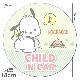 ポチャッコ 丸型18cm【CHILD IN CAR】車マグネットステッカー【ゆうパケット対応商品】