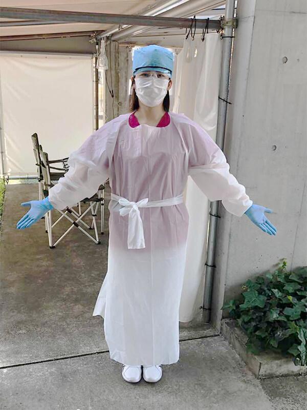 防護服(非医用) 10着入り 防塵、飛沫、その他の保護に! 使い捨て防護服アイソレーションガウン