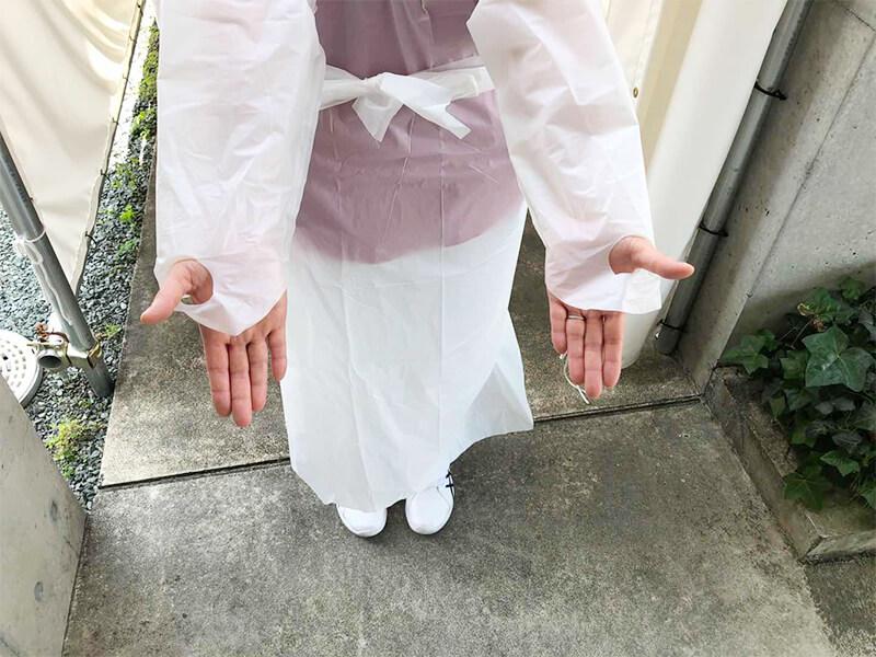 激安 防護服(非医用) 50着入り 防塵、飛沫、その他の保護に! 使い捨て防護服 アイソレーションガウン