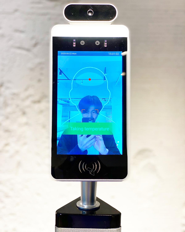 セーフティレセプション 検温・マスク有無 AI顔認証