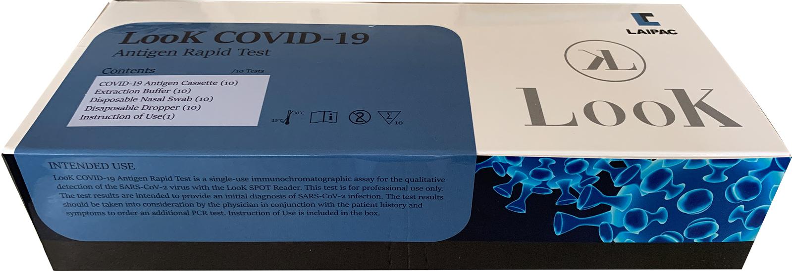 LOOK SPOT 抗原検査キット 本体+キッド10P  新型コロナウィルス