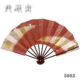 ★【舞扇子】『雪月花5005(赤/タメ塗骨)』