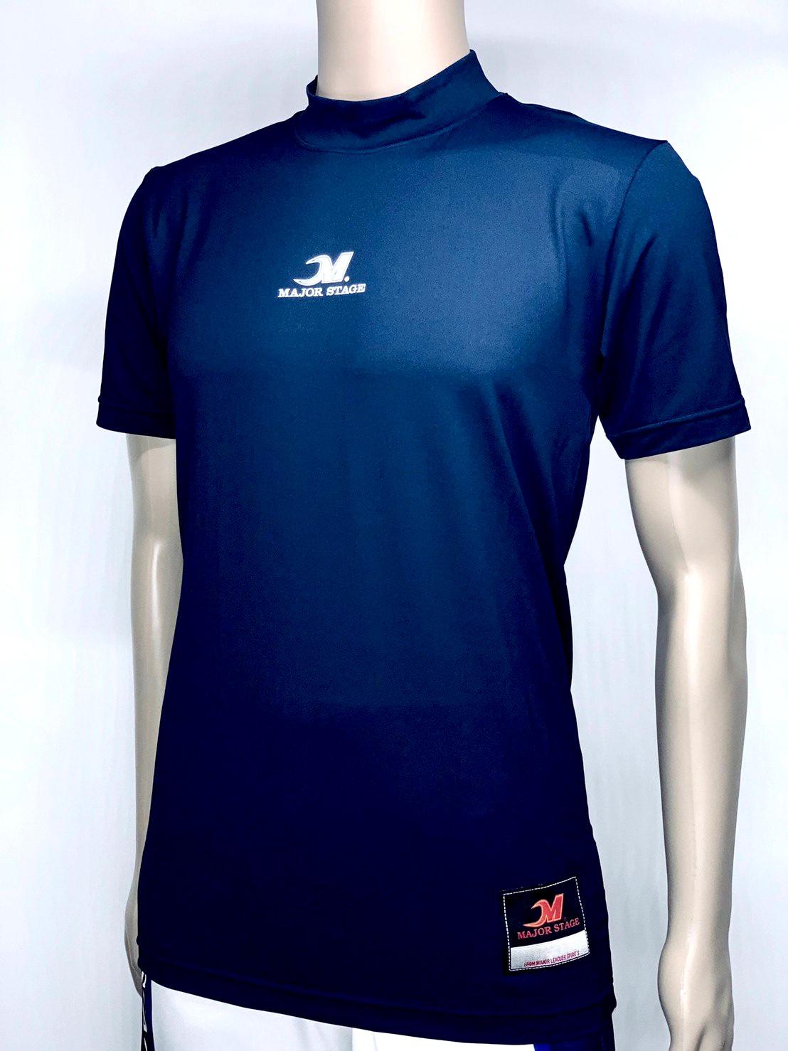 ルーズフィット クールアンダーシャツ ハイネック 半袖 MSU-132