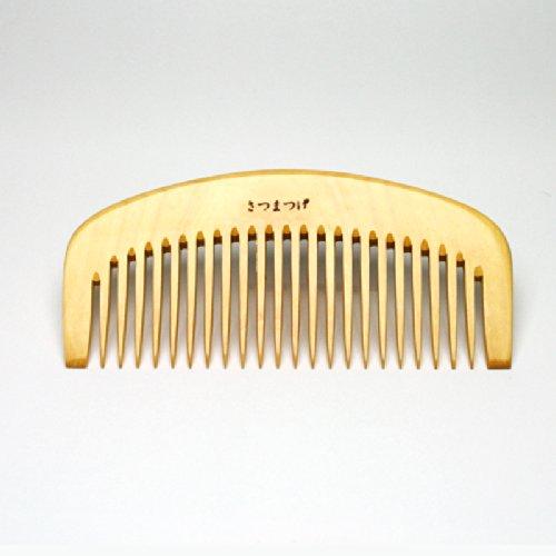 つげ櫛(パーマ櫛・3寸8分・荒歯/国産さつま柘植)ケース付セット