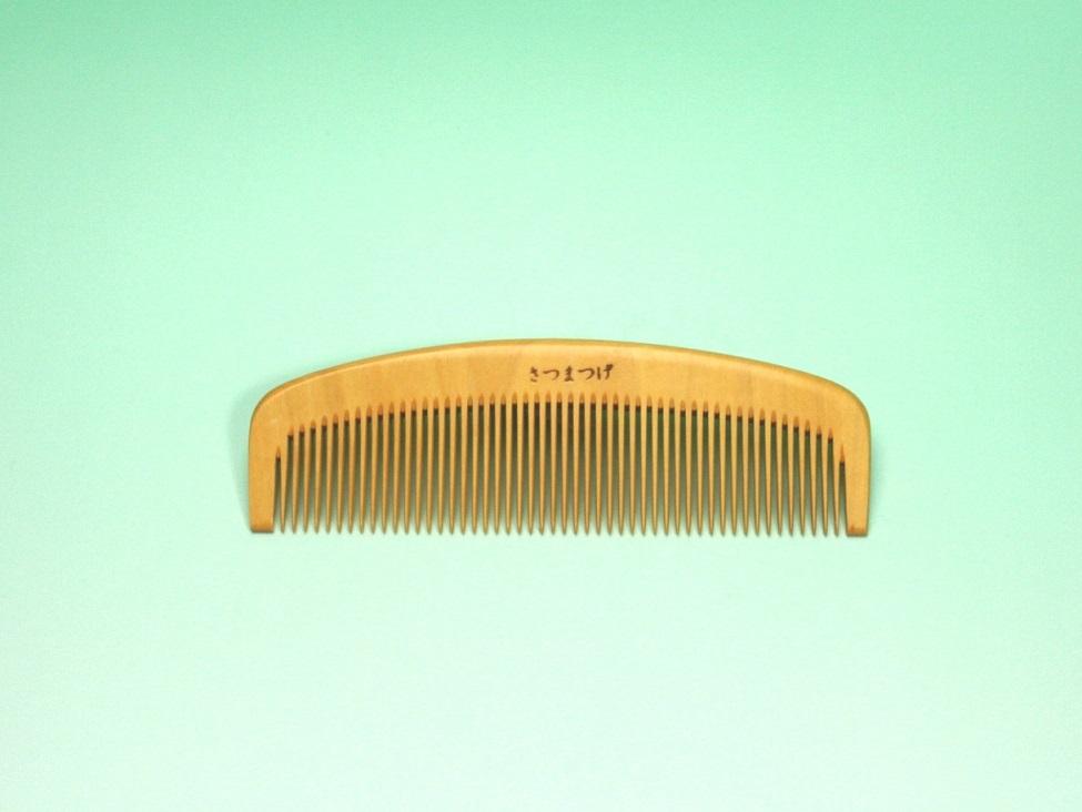 つげ櫛(解櫛・4寸・中歯/国産さつま柘植)ケース付セット