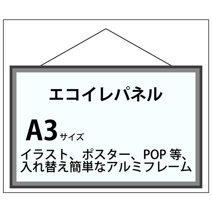 エコイレパネ フレーム加工 A3(297×420)
