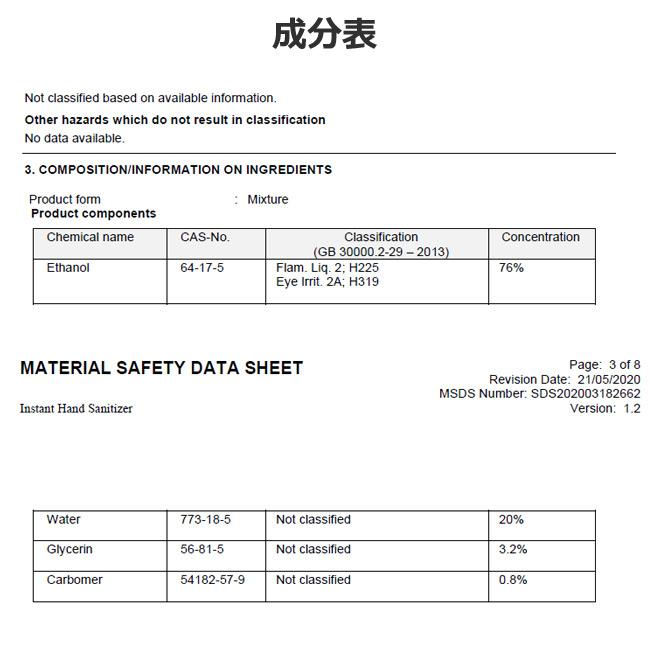 コピーアルコール除菌 ジェルボトル 500ml MAMORU 1ケース24個入り