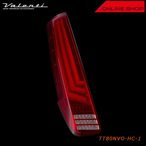 ヴァレンティ ジュエルLEDテールランプ Revo トヨタ 80系ノア/ヴォクシー/エスクァイア(バックランプクロームカバー付属)【VALENTI JEWEL LED TAIL LAMP Revo】[TT80NVO]