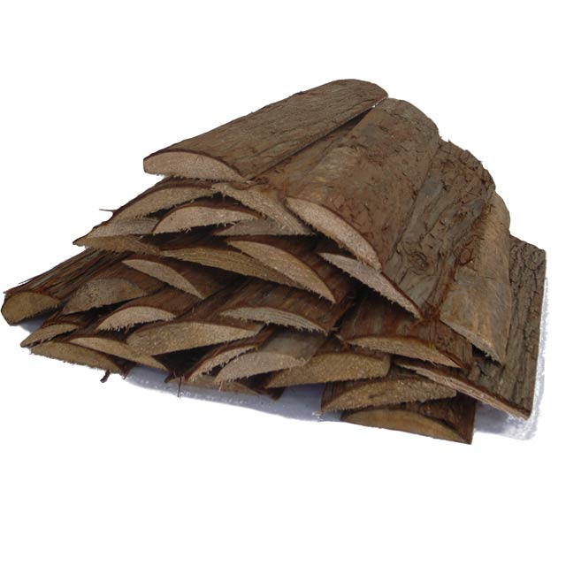 スギの焚付け板薪(皮付き) 15kg箱入