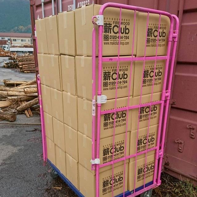 ナラ乾燥薪21cm大中割 12kg×40箱(480kg)