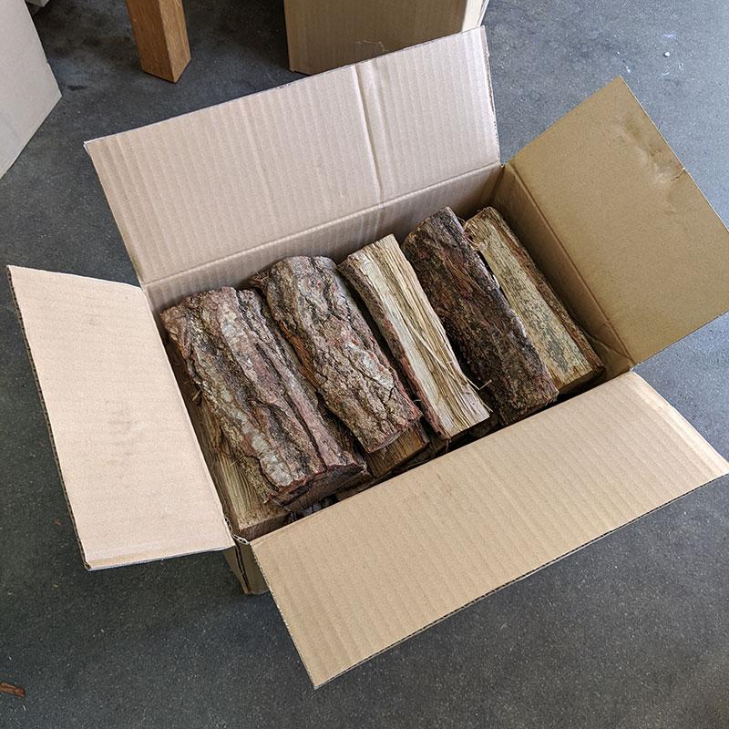ナラ乾燥薪21cm大中割 Sボックス