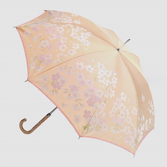 【晴雨兼用】絵おり 桜 ベージュ