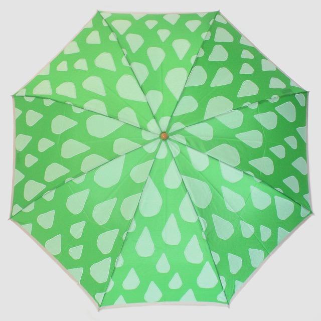 【雨傘 折りたたみ傘】fusion SHIZUKU グリーン×白