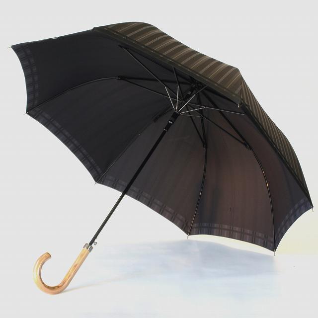【紳士雨傘】Tie Stripe×Plain GRAY