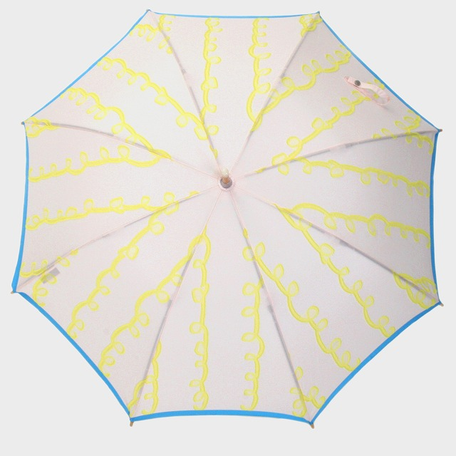 【晴雨兼用ショート傘】fusion GURUGURU ピンク×黄色