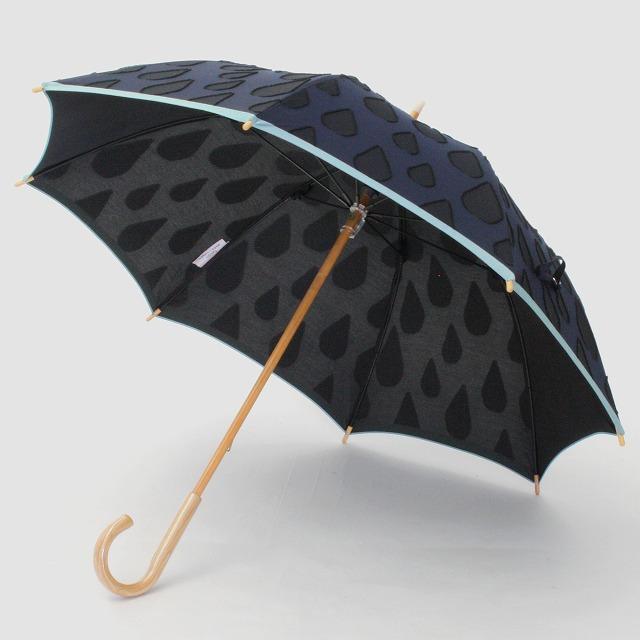 【晴雨兼用ショート傘】fusion SHIZUKU ネイビー×黒