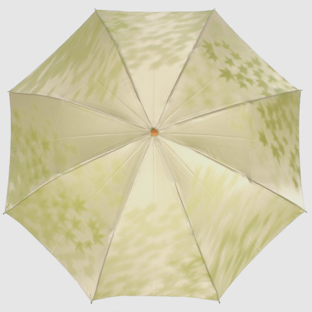 【晴雨兼用 折りたたみ傘】こもれび カエデ ライトグリーン